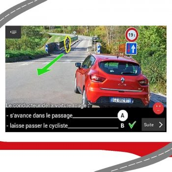 Boitier de code en salle ligne de conduite permettant le suivi personnelle des élèves en temps réel et de lire leur résultats sur internet pour une formation personnalisée